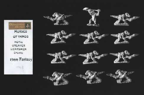 Alternative Armies 15mm Fantasy HOT46 Greater Lizardmen with Spear (x 12)